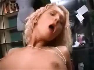 Super sexy german blonde scene in a sexshop
