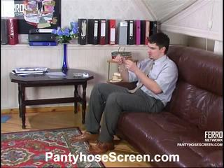 Rosa And Adam Videotaped Whilst Pantyhosing