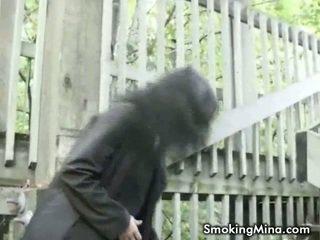 echt brunette vid, online roken, video
