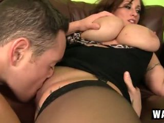 Incredibly Large Breasts On The Sexy Cougar Slut Eva Notty