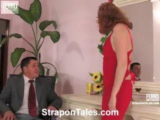 zien strap-on, u vrouwelijke dominantie neuken, nominale femdom video-