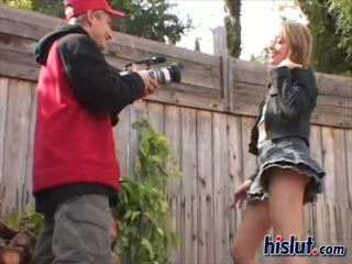 Corina is a wild girl who sucks a dick outdoors