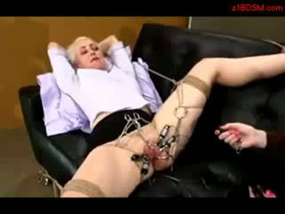 Girl Tied To Coach Hook In Pussy Tortured With Electricity Licked By Mistresstrixtrix