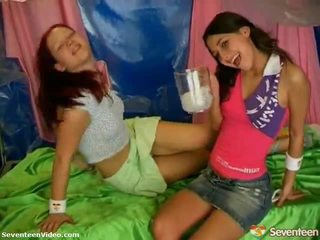 Excited Teen LesBians At Play