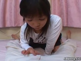 Young and shy japanese teen kozue matsushima gives nice pov blowjob