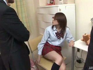 Japanese teen rino mizusawa horny blow banging