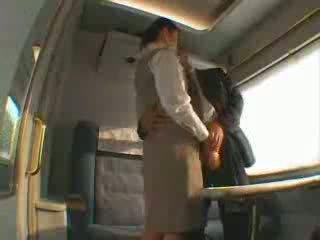 japonais, baise, train