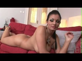 Wicked Babe Aria Giovanni Enjoys Rubbing And Playing Her Big Juggs