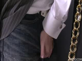 Nasty Yuu jumps all over her blind dating sucking his shaft like a Crazy woman