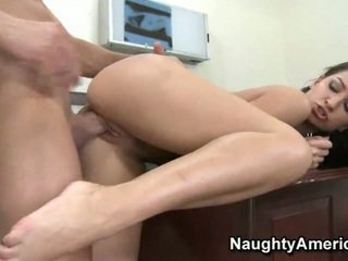 Ann gets fucked and creamed at work