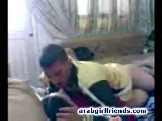 Turned on Arabian couple go naughty fucking in hot homemade