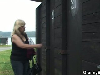 Mature gets nailed in the changing room