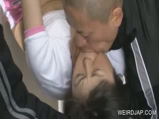 Oriental sexual torture with chick slave