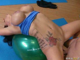 brunette, sport, beautiful tits, big tits
