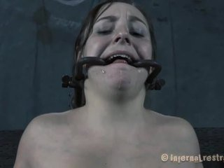 kwaliteit slavernij neuken, groot vastgebonden-up tube, bondaged