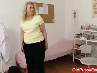 Old Blonde Girl Has Her Hoo Hoo Bumped By A Doctor