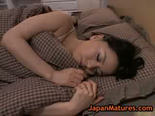 Mature big tit miki sato Masturbating on bed 8 by japanmatures