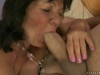 Naughty grandma gets fucked hard
