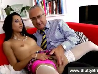 real girl, real brunettes, online old young clip