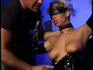 Blindfolded fetish babe fucked hard