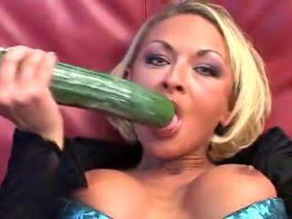 Fucking 2 Cucumbers, anal and fisting