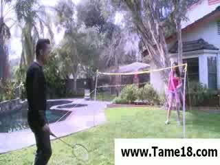 Model Janie Jones gets punished outdoor