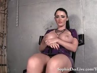 Big Tit Mistress Sophie Dee Makes You Jerk Your Cock!