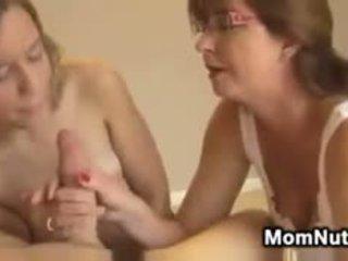 brunette, blowjob, threesome