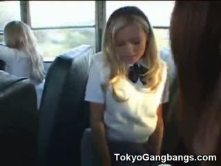 Hot White Coed In A School Bus In Japan!