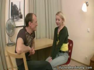 Virgin deflowered av boyfriend's far.