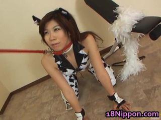 Teinit aasialaiset whore screwed sisään hänen mekko
