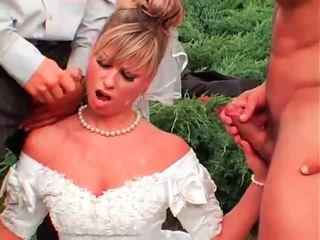 pissing, uniform, brides