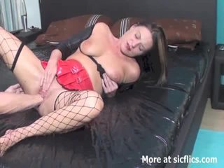 Fisting the wifes holes till she pisses herself