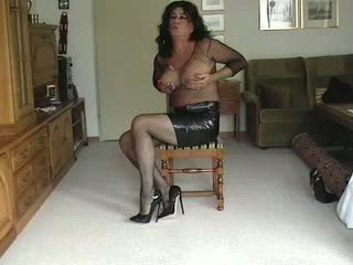 Transsexual With Fake Boobs Teasing On Cam