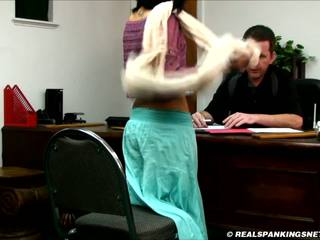 Realistic corporal punishment paddling at school.