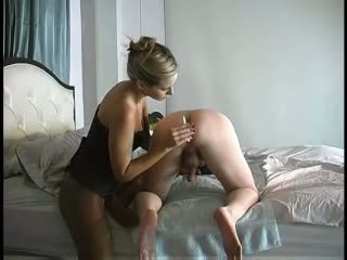 Madeline is wicked milking his prostate the second session