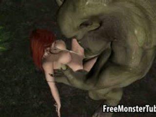 3de rdečelaske elf bejba getting zajebal težko s a pošast