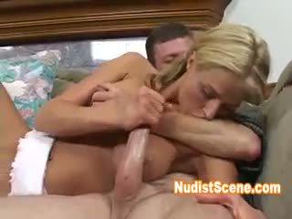 see brunette real, fun big boobs, great blowjob