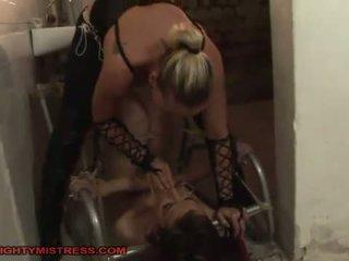 bdsm porn, check hogtied action, hq lezdom video