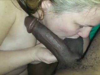 Mature chick interracial cocksuck