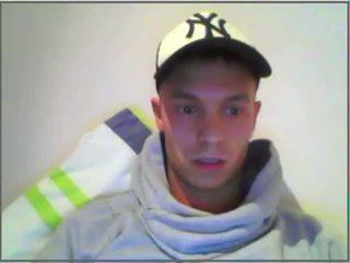 white channel, webcam, full jerking clip