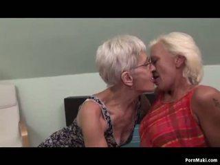 レズビアン おばあちゃん having 楽しい