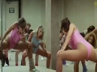 Sexy Girls Doing Aerobics Exercises In A Kinky Way