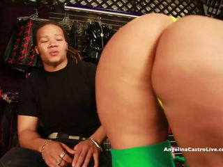 BIG TITTED ANGELINA CASTRO FUCKS & SQUIRT IN A SEX STORE?