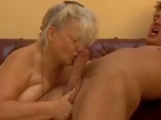cumshots, vol oma scène, groot grannies kanaal