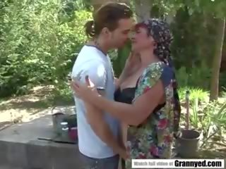 Young Guy Fucks Hairy Granny Pussy, Free Porn 3d