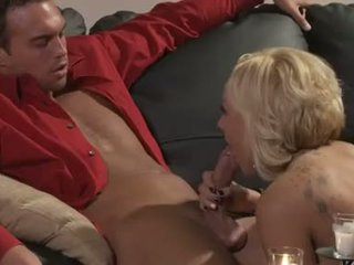 Blonde babe Brandy Blair gets very eager to slam some hard action with her man