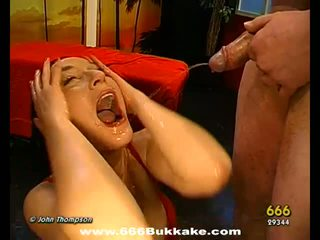 Cumshots on babes pretty face