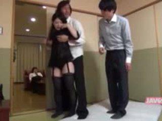 Beautiful Horny Japanese Babe Having Sex