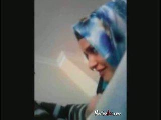Hijab turkish Turban Sucking cock